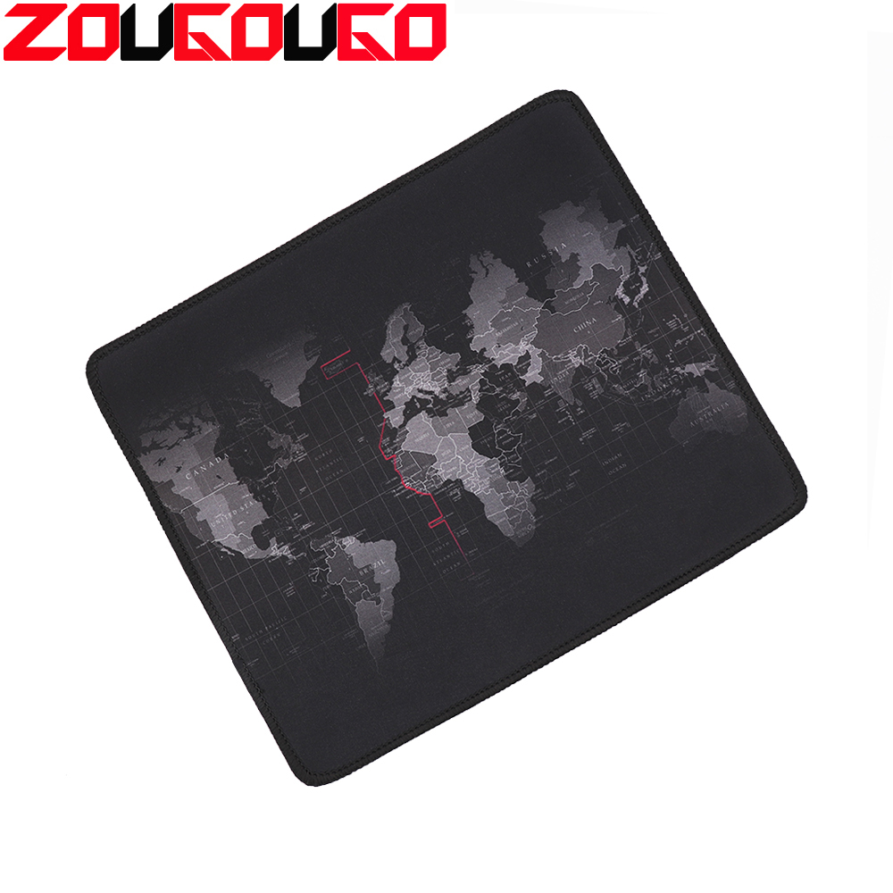 Gaming Mouse Pad Old World Map Gamer Computer Mousepad Anti-slip Natural Rubber With Locking Edge Gaming Mouse Mat