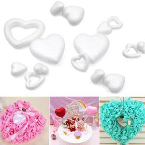 Heart Modelling Heart Ring Polystyrene Styrofoam Foam Ball Christmas Wedding Party Decoration Supplies Home Decoration DIY Craft