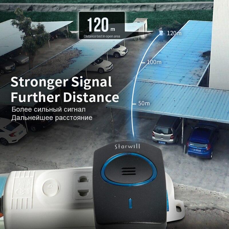 Image 5 - Zogin auto alimentado sem fio campainha da porta inteligente casa à prova dcordless água sem fio anel dong chime casa chamada timbre casa chamandoCampainhas   -