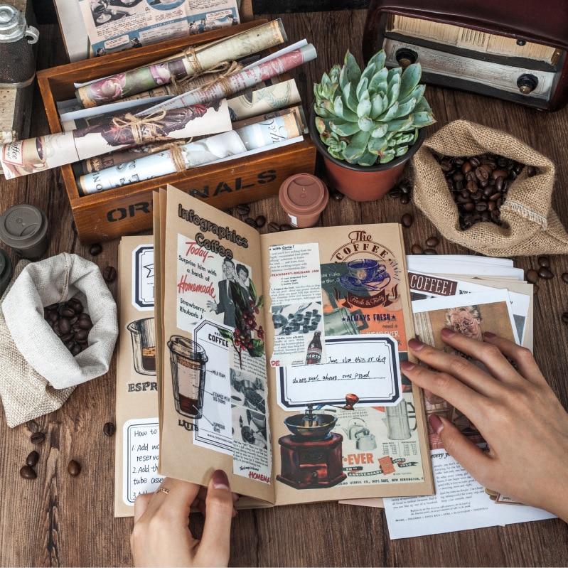 Coffee Aesthetic Series Memo Pad Coffee Ticket Creative Retro Handbook Message Memo Notepad Paper