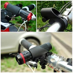 Bicycle Grips Bike Bicycle Light Lamp Front Torch LED Flashlight Mount Bracket 19-27mm Diam UK Cycling Hand Rest Handlebar