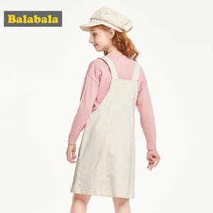 Image 2 - Balabala детская одежда, платье для девочек, хлопковое платье, новинка 2019, осеннее платье, вельветовое платье на бретельках для принцессы