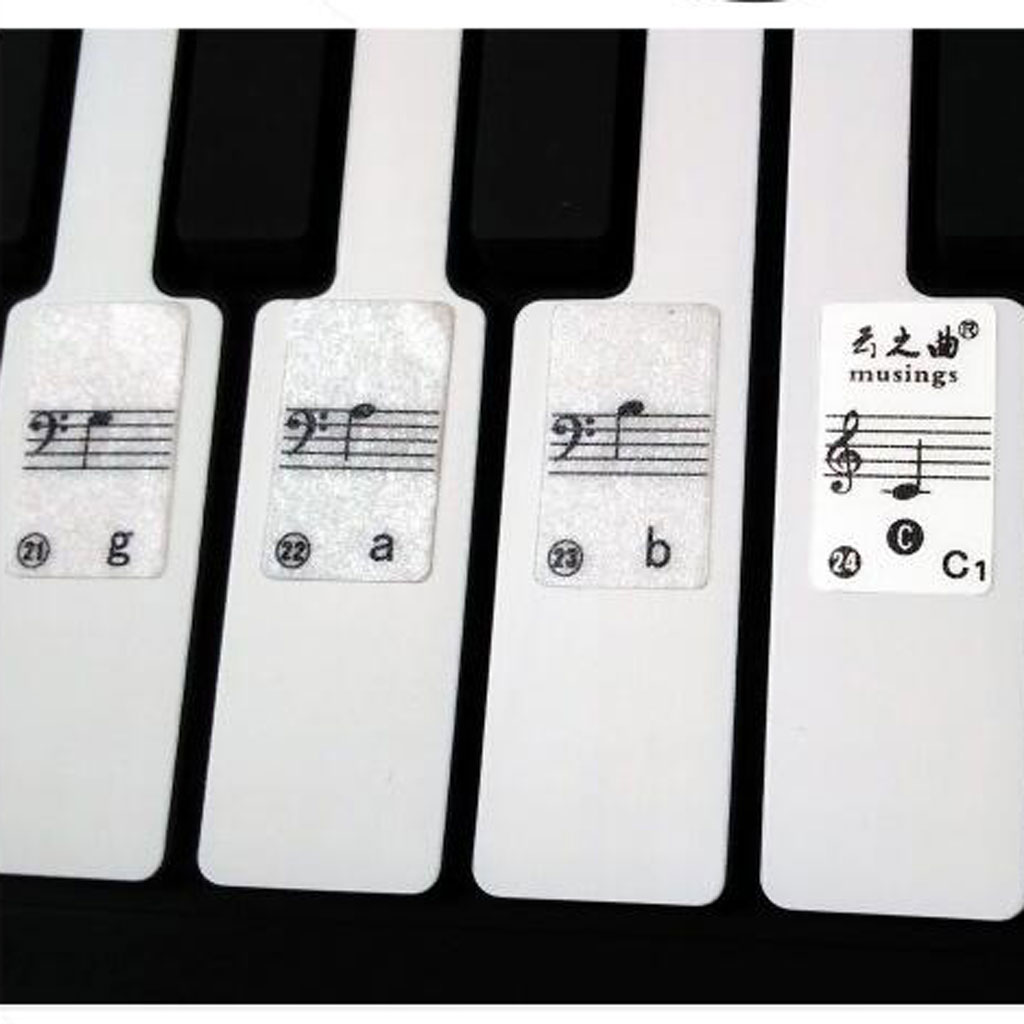 Keyboard / Piano Decal Sticker SET Up To 88 KEYS The Best Way To Learn Piano image