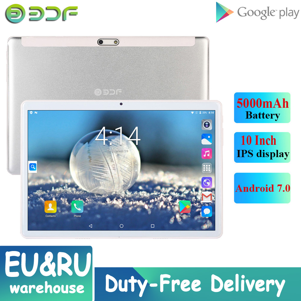 2020 New Original Android 7.0 10 Inch Tablets 3G Phone Call IPS Pc Tablet WiFi GPS Tab PC Dual SIM Dual Camera Google