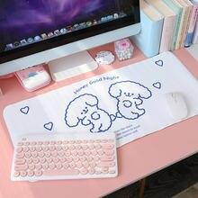 Kawaii портативный большой коврик для мыши ноутбука водонепроницаемый