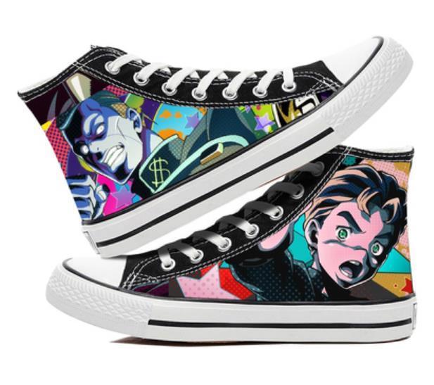Canvas Bizarre Adventure Shoes