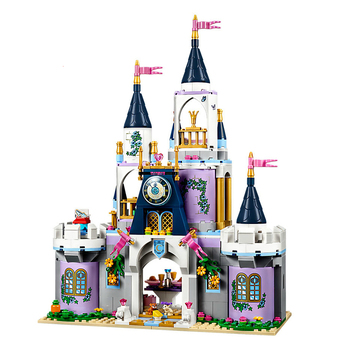 585pcs Cinderella Dream Castle Building Blocks Bricks Compatible Disneying 41154 Toys for Children Gifts With Lepininglys