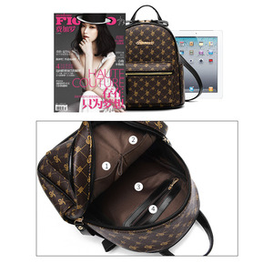 Image 5 - Luxury Famous Brand Design Women Backpack for Ladies Girls Vintage High Quality PU leather Back pack Bag Rucksack Bolsas Mochila