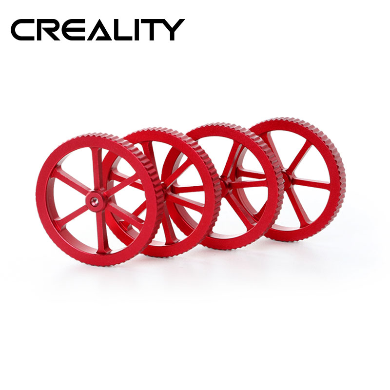 CREALITY 3D Printer Accessories 4Pcs LotNew Large Red Hand Twist Leveling Nut Spring  Optional  For CREALITY 3D Printer