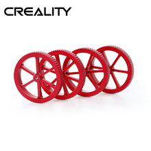 CREALITY 3D akcesoria do drukarek 4 sztuk/LotNew duży czerwony ręcznie Twist poziomowania nakrętki wiosna (opcjonalnie) dla CREALITY 3D drukarki
