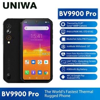 Перейти на Алиэкспресс и купить 8 ГБ 128 Гб мобильный телефон термокамера смартфон Blackview BV9900 Pro IP68 Водонепроницаемый Helio P90 Восьмиядерный прочный четырехъядерный