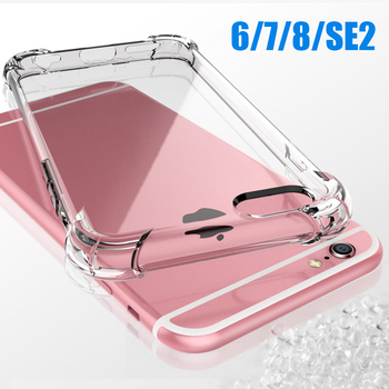 Transparent Silicone Case For iPhone 7 Plus 6 6S 8 Plus Shockproof Soft Cover For Apple iPhone SE 2020 Case i Phone SE2020 SE2 image