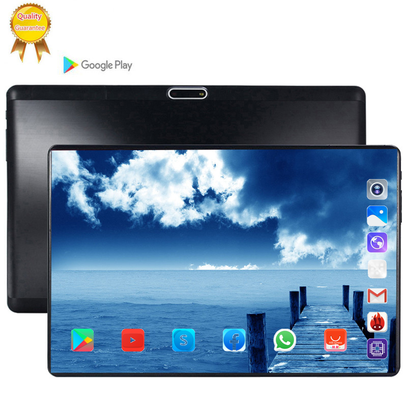 Full Size Glass Screen Tablet Pcs 10.1 Inch Android 9.0 Octa Core 6GB RAM 64GB ROM 3G 4G LTE  IPS 5.0MP SIM Card Ips Tablet Pc