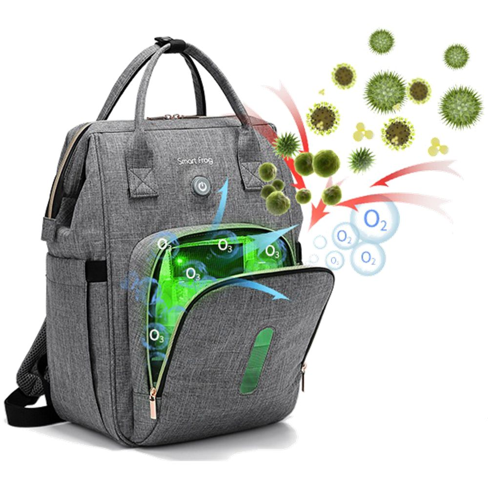 Baby Disinfection Diaper Bag Mom Dad Maternity Backpack with Active Oxygen Ozone Sterilization Nappy Nursing Knapsack 2021 New