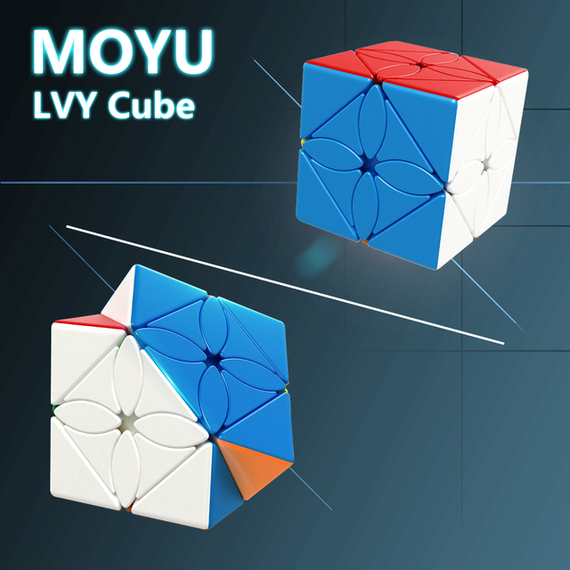 MoYu Meilong LVY Cube Cubing Classroom Maple Leaves Magic Puzzle Cube Professional Stickerless Speed Cube Lvy Toys Gift