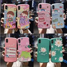 Silk pattern Soft TPU Phone Case For iphone 11 Pro XR Case For iphone 6 6s 7 8 plus X s Xs max Simple Small waist Back Cover стоимость