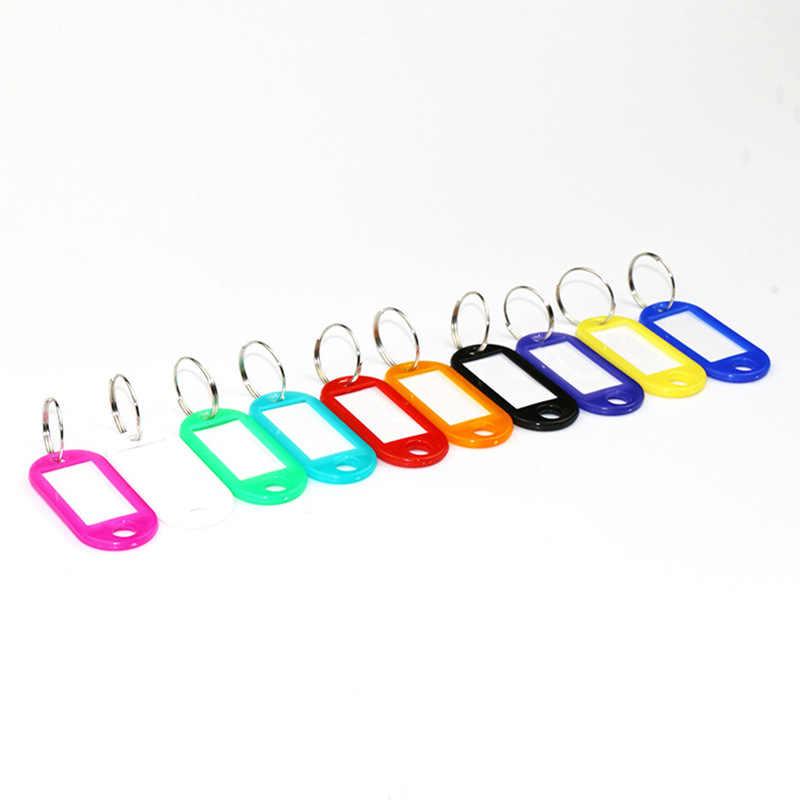 Mới Nhựa Nhiều Màu Dây Chuyền Chìa Khóa Để Ý Móc Khóa Mặt Dây Chuyền Màu Phân Loại Thẻ Cho Chìa Khóa Đảng Tặng Bộ Trang Sức Xe Móc Khóa 3048