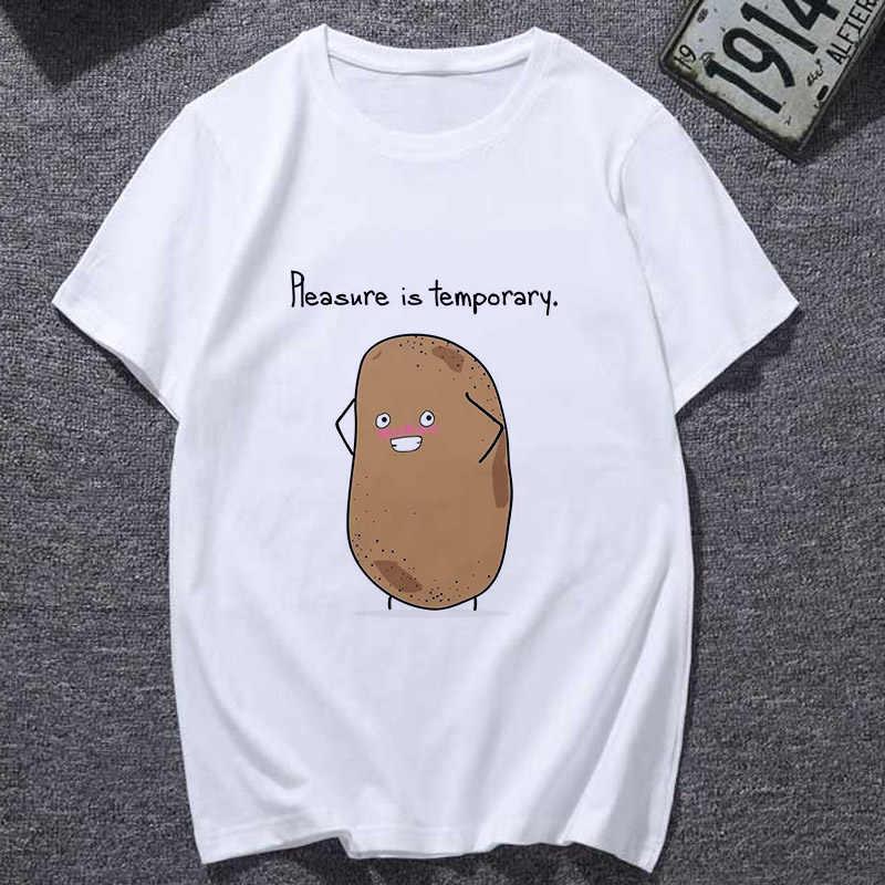 Lus Los 2019 ใหม่แฟชั่น T เสื้อ Harajuku เสื้อยืดมันฝรั่งน่ารักหญิงเสื้อยืด Kawaii Tees