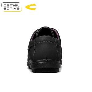 Image 2 - 낙타 활성 새로운 정품 가죽 남성 신발 여름 가을 비즈니스 캐주얼 신발 경량 편안한 레이스 업 편안한 신발
