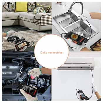 Mini Waterproof Cable Inspection HD1080P Camera 8MM USB Endoscope Borescope 8 Led Lights 4.3 Screen 2/5/10M Options