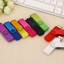 Высокоскоростной Usb OTG USB флэш-накопитель 32 Гб металлический накопитель 8 Гб 16 Гб флэш-диск 64 Гб 128 Гб двойной usb-накопитель