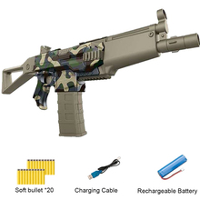Rifle de juguete al aire libre, regalo para niños, dardo, pistola de chorro de juguete, ráfaga eléctrica, pistola de balas blandas, traje para balas Nerf para niño
