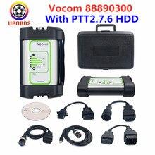 Más Vocom interfaz 88890300 para Volvo versión USB con V2.7.6 HDD camión excavadora de diagnóstico herramienta para Renault / UD / Mack