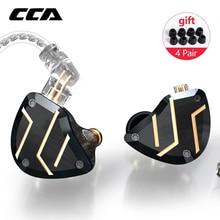CCA-auriculares internos C10 PRO 1DD + 4BA, controladores híbridos, HIFI, con conector de 2 pines, CCA C12 C16 CA16 ZSX ZSN