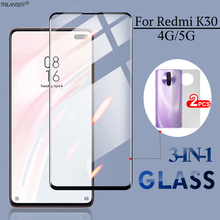 цена на 3-in-1 Front+Back Glass For Redmi K30i Screen Protector Glass Sticker for xiaomi redmi k 30 xaomi k30 6.67'' full cover glass 9D