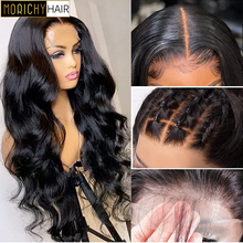 Morichy 13x4 Body Wave Transparent Lace Front Wig Human Hair 100%  for Women Pre Plucked Brazilian T Part Lace Frontal Wigs