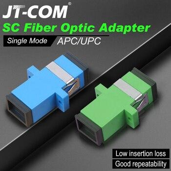 ¡Envío gratis! 200 Uds. SC adaptador de conector de fibra óptica SC / UPC SM brida Singlemode Simplex SC-SC acoplador APC al por mayor