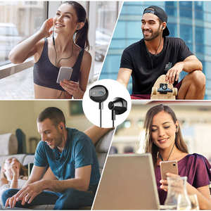 Image 4 - Langsdom Metal Earphone Headphones with Mic 3.5MM Wired Stereo Headset Hifi In Ear Earphones for Phone Xiaomi fone de ouvido