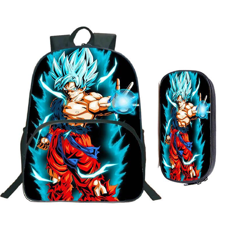 """Kids Boys Bag Dragon Ball Z Backpack 16/"""" School Bag Anime Student Bag Gift Hot"""