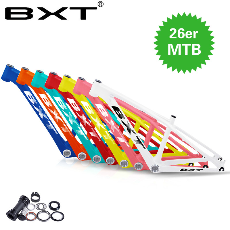 BXT Mtb-Frame Ultra-Light 26-Carbon Kids Children 26er 3K Gloss Clamp Headset BB92 16/14inch