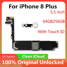 Factory Unlock Moederbord Voor Iphone 8 Plus 5.5Inch 256Gb Ios Update Ondersteuning Geen Touch Id Logic Board Goede getest