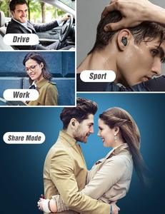 Image 5 - TAGRY Bluetooth kulaklık TWS kulakiçi Led ekran 30H oynatma binoral çağrı gerçek kablosuz kulaklık Metal şarj Mic ile durumda