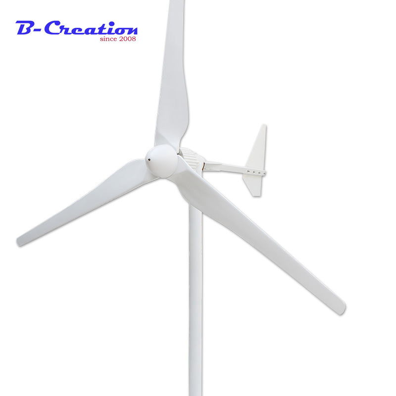 Tre Fase di Uscita AC 2KW 2000W 24v 48v 96v 110v 220V 380v Vento generatore/generatore di Turbina di Vento 3 m/s Bassa Velocità del Vento Start 3 lama