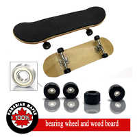 5 Different Color Professional Fingerboard, Wooden Fingerboards Finger Skateboard Alloy Stent Bearing Wheel Novelty Fingerboard