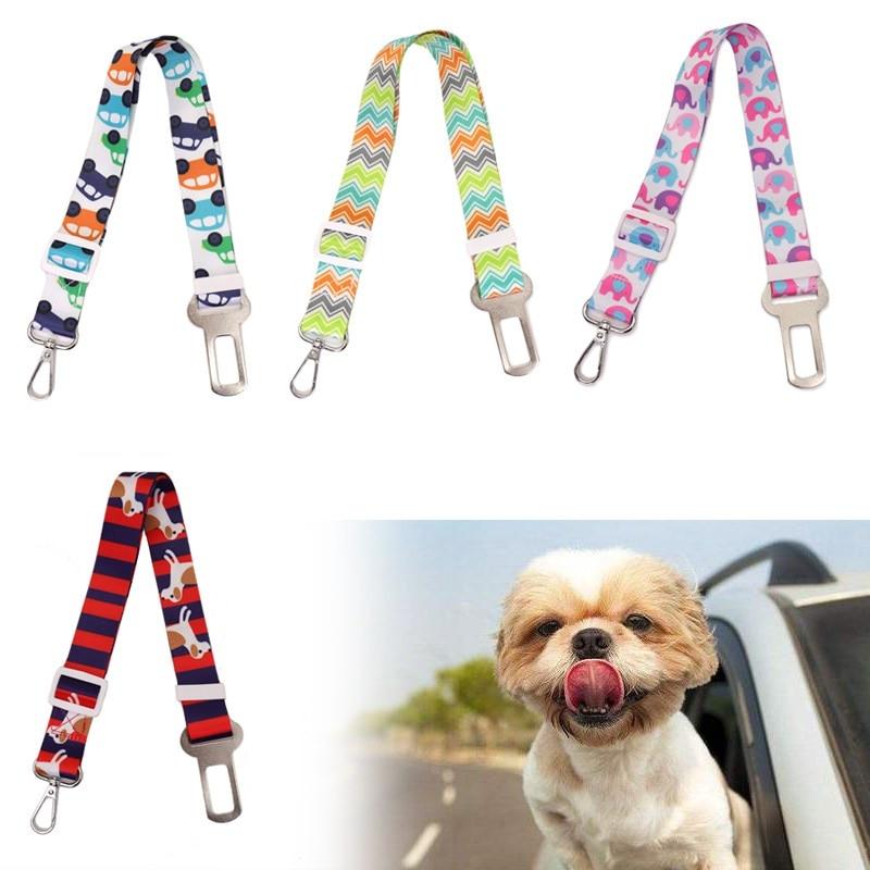 Pet Dog Cat Car Seat Belt For Accessories Goods Animals Adjustable Harness Lead Leash Small Medium Pet Outdoor Travel Supplies