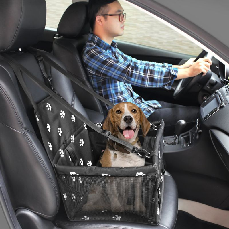 Car Booster Seat Travel Carrier Cage Oxford Breathable Folding Soft Washable Travel Bags For Dogs Cats Car Booster Seat