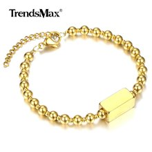 Bracelet Stainless-Steel Jewelry Logo-Name Customize Gold-Filled Personalized Men Women