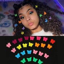 15x18mm 20/50/100/200 pçs colorido borboleta grampos de cabelo aperto garra barrettes mini grampos mandíbula hairpin acessórios de estilo de cabelo ferramenta