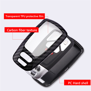 Image 5 - Carbon faser + PC Schlüssel Abdeckung Fall Für Audi A4 A5 S4 S5 B9 8W Q7 4M Q5 TT TTS RS Coupe Roadster 2017 2018 Smart Remote Shell