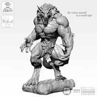1 / 24 Resin Figure Kits moon Wolfman Soldier Self-assembled 80MM TD-2075