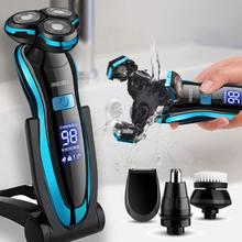 Rasoir électrique rechargeable pour homme,tondeuse à barbe à double usage, pour rasage à sec et humide, charge rapide,