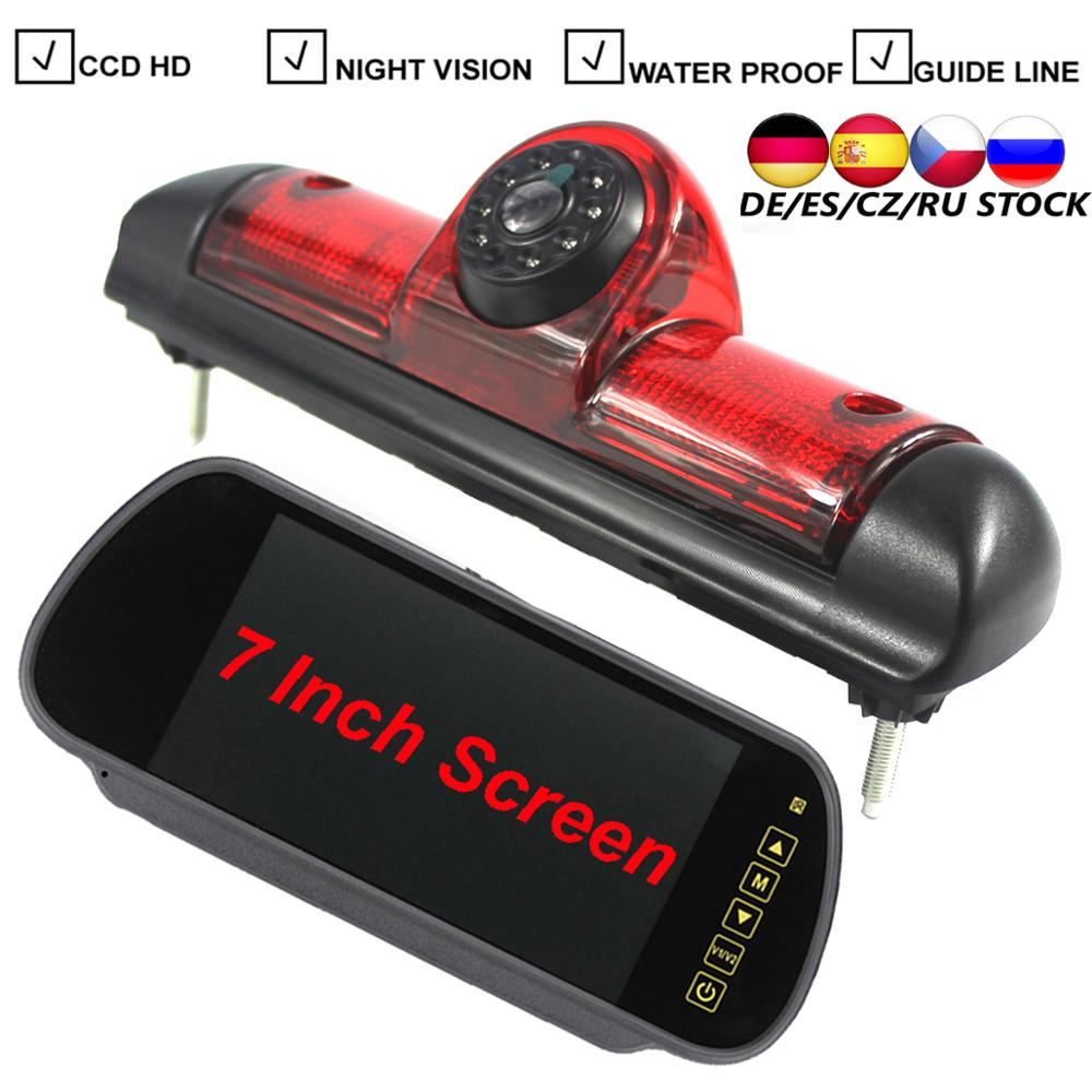Автомобисветильник стоп-сигнал CCD, камера заднего хода для Citroen JUMPER III FIAT DUCATO X250 Peugeot BOXER III, светодиодсветильник лампа, фотокамера