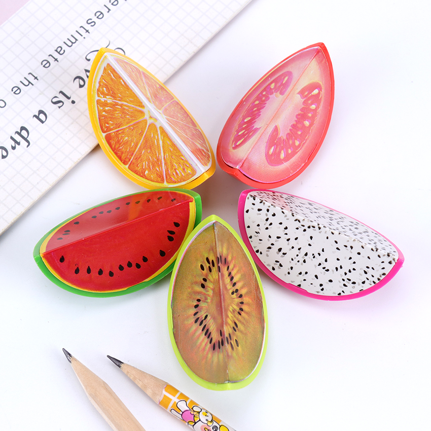 3PCS Kawaii Fruit Pencil Sharpener Cutter Knife Promotional Gift Stationery Student   Cartoon Pencil Sharpener
