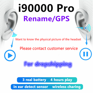 True Tws Bluetooth Wireless Earphones, Sports Headphones, Airoha 1536u Super Bass Headphones with i90000 Pro 2 Protective Case