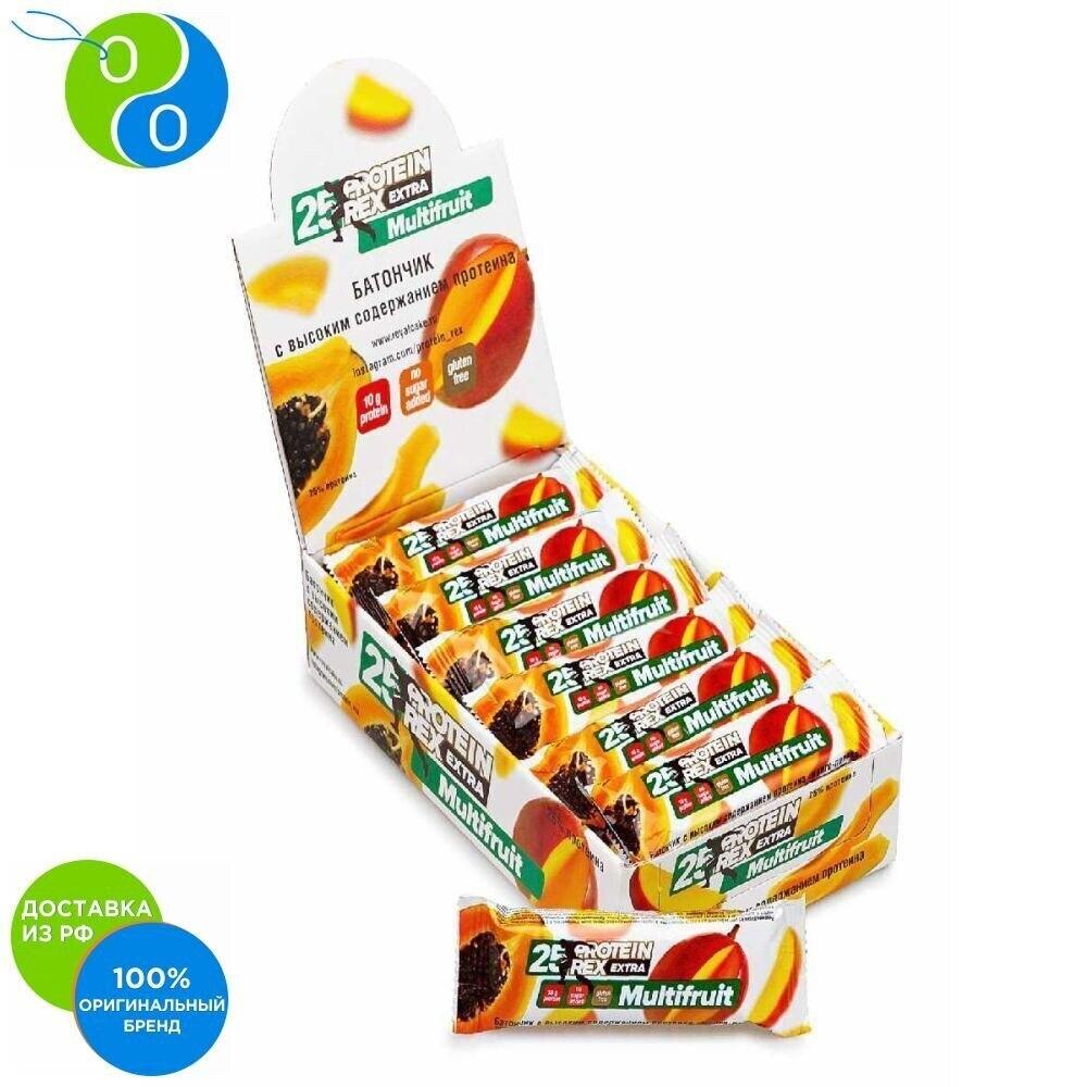 Батончик с с высоким содержанием протеина ProteinRex манго и папайя 4