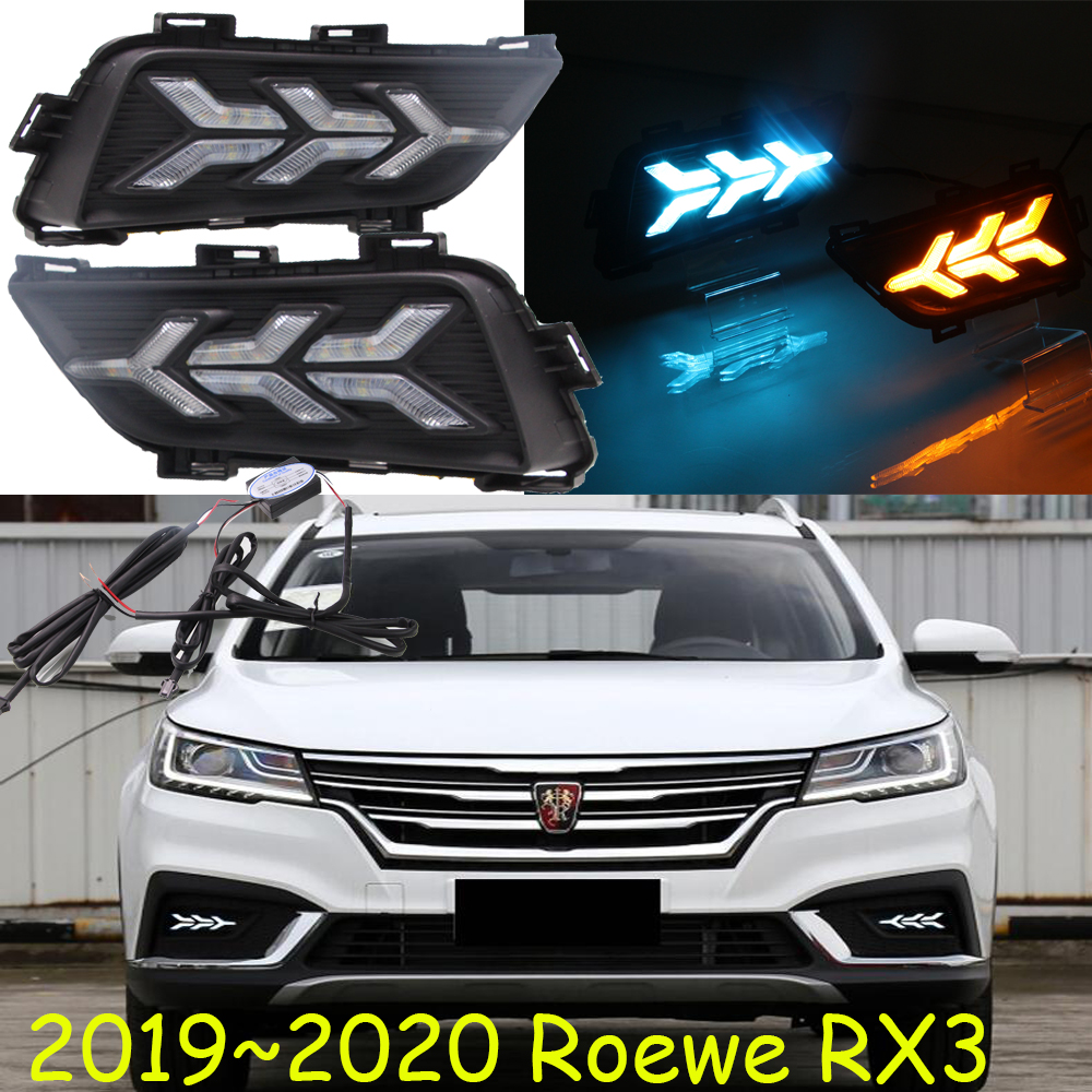 2019~2020year for Roewe RX3 daytime light car accessories LED DRL headlight for Roewe RX3 fog light